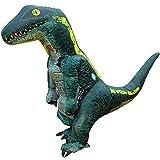 [YOYO] ハロウィン 恐竜 着ぐるみ 内蔵ファンで膨らむ大迫力のビッグサイズ 業務用コスチューム 高品質 蒸れない快適な着心地 ティラノサウルス Tレックス T-REX ラプトル ヴェロキラプトル ジュラシック ワールド コスプレ 衣装 軽量で動くのも楽々 コンパクトに収納可能 怪獣 ゴジラ モンスター 変装 仮装 コスチューム パーティー/イベント/学芸会/学園祭/クリスマス/忘年会で大活躍 USB電源&乾電池両方使用可 空気充填 エアー膨張式 日本語説明書同梱