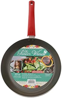 The Pioneer Woman Floral Bursts Frying Pan Red 10