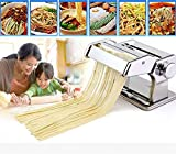 Cheesea Home Kitchen Removable Stainless Steel Pasta Maker Noodle Making Dough Roller Cutter...
