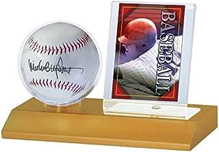 MLB Wood Baseball and Card Holder