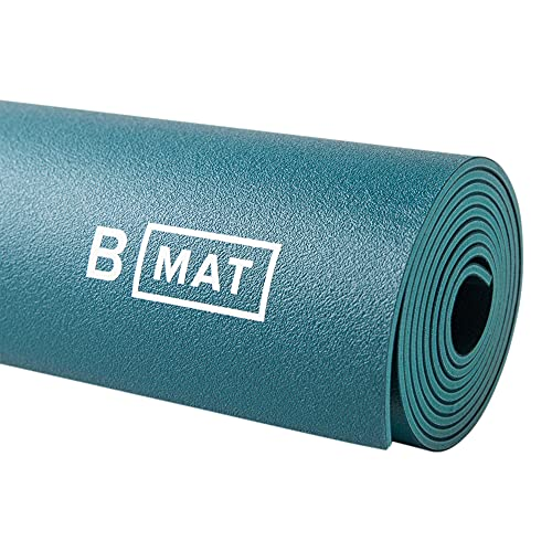 """B Yoga Everyday 4mm B Mat, 100% Rubber High Performance Super Grip Non Slip OEKOTex Certified - for Yoga, Pilates, Workout and Floor Exercises, Ocean Green, 71"""""""