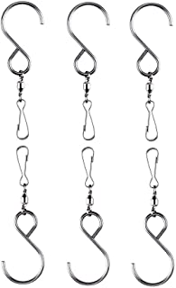 Lighten Glimmer Smooth Spinning Swivel Clips Stainless Steel Hanging Hooks for Wind Chime Mobile Spinner Hangers Crystal T...