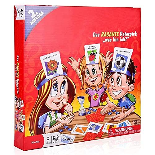 was Bin Ich, Kinderspiel Kartenspiele Brettspiel für Kinder, Freunde und Familien(2. Edition)