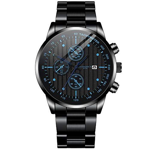 Reloj de pulsera analógico de cuarzo para hombre, con cronógrafo, de mano., b, Pulsera