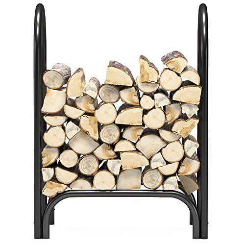 Regal Flame 8 ft Heavy Duty Firewood Shelter Log Rack for Fireplaces and Fire Pits to Enjoy a Real...