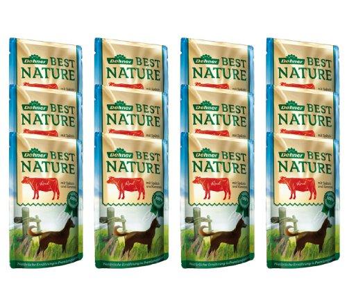 Dehner Best Nature Hundefutter Adult, Rind und Spätzle mit Karotten, im Beutel, 12 x 150 g (1.8 kg)