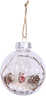 Cute Christmas Tree Decorations Xmas Pendant Small Round Ball Haning Drop Ornaments for Home Party (2)