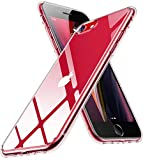 Humixx Crystal Clear iPhone SE 2020 Case & iPhone 8/7 [6 FT Military Grade Drop Test/Anti-Yellowing] Hard Back with Soft TPU Bumper, Slim Yet Protective Phone Case for iPhone SE 2nd Gen/7/8-4.7''