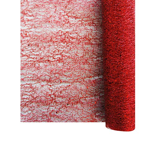 CHEMIN DE TABLE GLITTER 30CM*5M - ROUGE