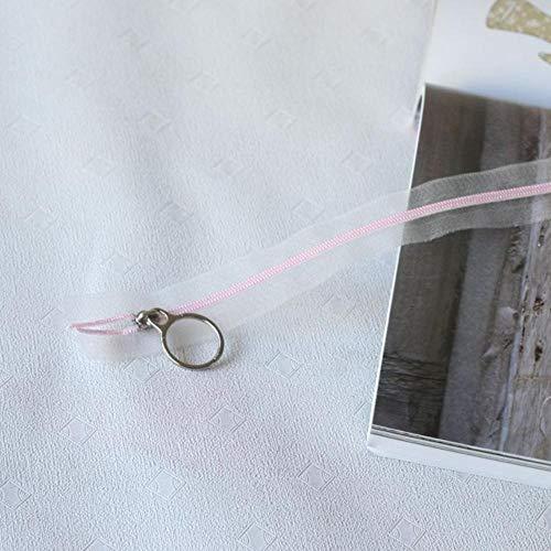 7pcs 3# 25cm Zipper Close-End Multicolor Nylon Transparent Zippers Ring Zip Slider for Bag Garment Sewing DIY Accessory Craft-Pink,3#,25mm