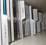 Vinyl Guru Lot de 26séparateurs à onglets verticaux pour collection de CD/étagère Blanc