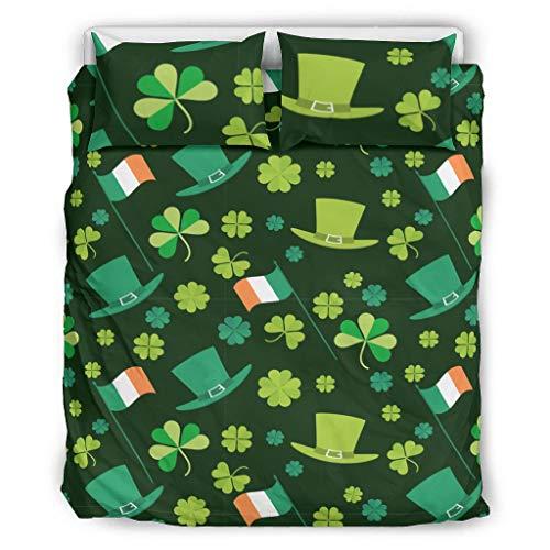 WOSITON Bedding St Patrick's Day Soft Categories - Juego de almohadas decorativas de color oscuro, 167,6 x 228,6 cm