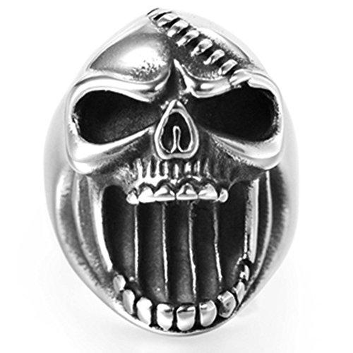Anello in acciaio INOX, stile retro, gotico,biker, anche un apribottiglie. e Acciaio inossidabile, 69 (22.0), colore: Silver, cod. JR880