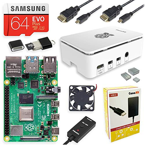 CanaKit Raspberry Pi 4 Starter MAX Kit - 64GB...
