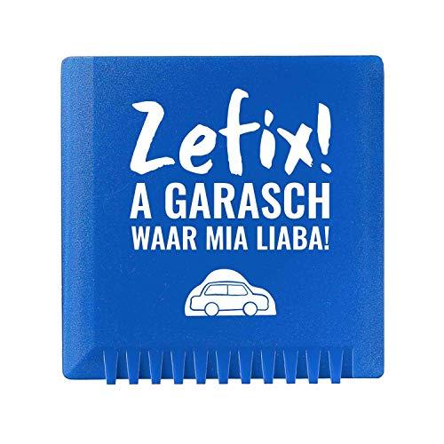 Bavariashop Eiskratzer mit lustigem Spruch, Bayerische Geschenkidee, Mit Kratzzähnen, Perfekte Handhabung