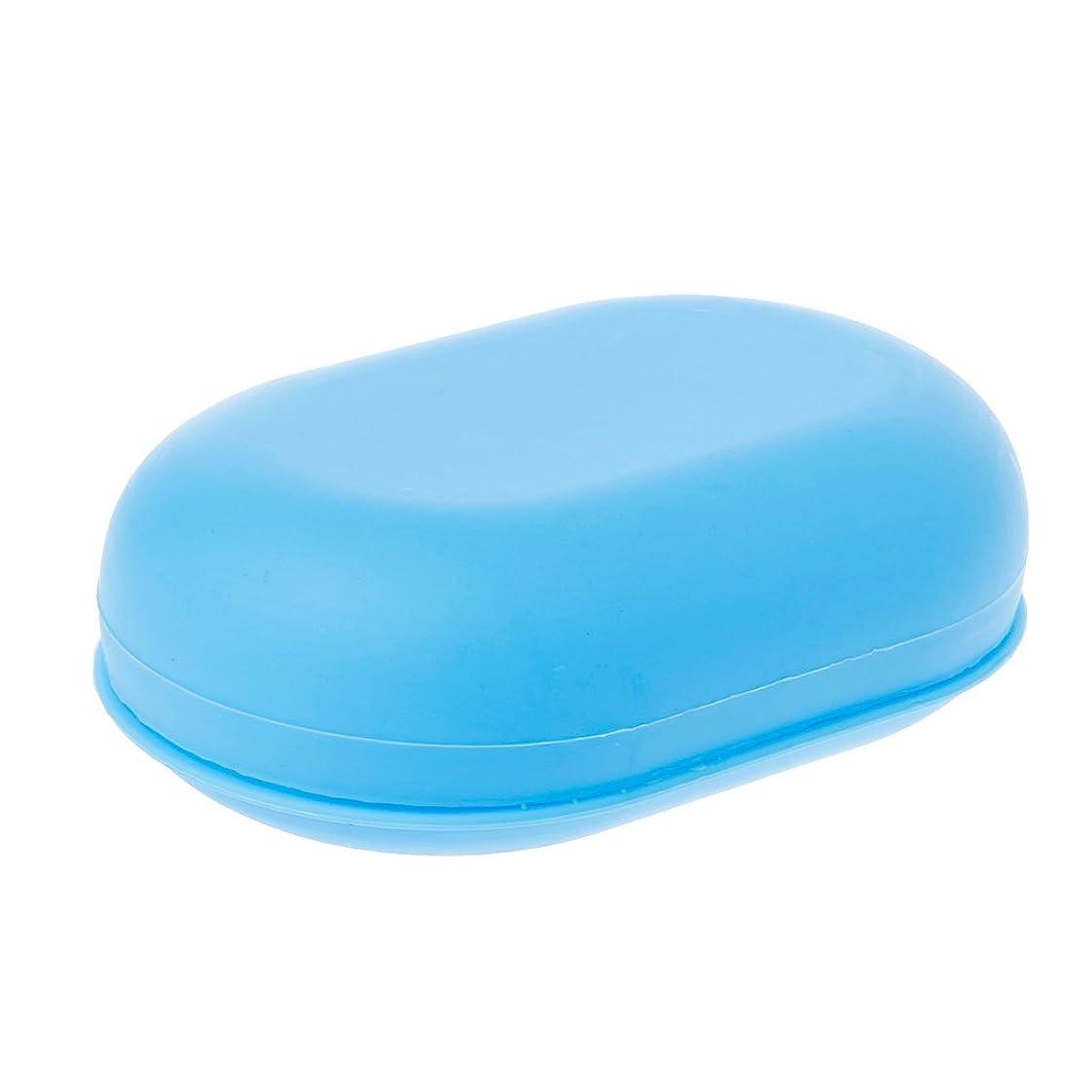 優先アプローチほのかLamdooポータブル旅行ホーム浴室のシャワーソープボックスプレート皿ホルダーケースコンテナブルー