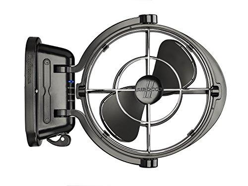 Sirocco II Fan from Seekr by Caframo. 12V /24V DC. Gimbal Fan for Boat or RV. Black, One Size