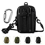 Unigear Compact Multi-Purpose Tactical Mole EDC Utility Gadget Pouch Tools Waist Bag Pack, Black