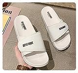 MLLM Easy Close Hombre Zapatos,Pantuflas para diabéticos, Zapatos de recuperación de tamaño Ajustable-Blanco a_41,Zapatillas para diabéticos con Espuma