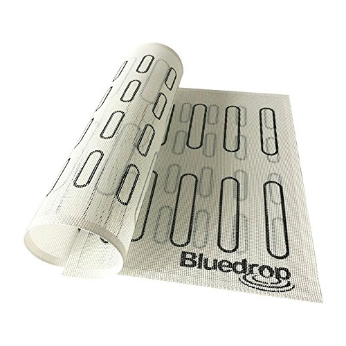 Bluedrop Eclair Baking Sheets Perforated Silicone Baking Mats For Bread Cookies Open Mesh Non Stick Oven Liner