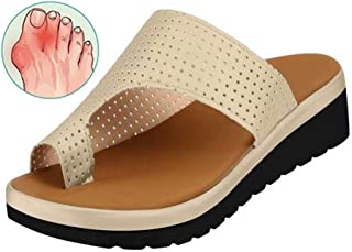 Bunions Correction Sandals Women Foot Big Toe Bone Orthopedic Slippers With Arch Support Hallux Valgus Open Toe Shoes