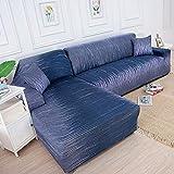 ASCV Funda de sofá de Sala de Estar Impresa en Forma de L Funda Protectora de sofá Funda de sofá de Esquina elástica a Prueba de Polvo A3 1 plazas