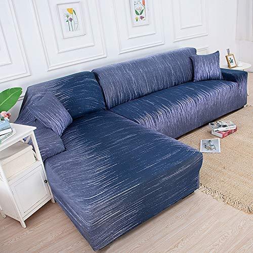 WXQY Funda de sofá de Esquina en Forma de L, Funda de sofá elástica Gris, Funda de Silla, protección para Mascotas, Funda de sofá Antideslizante A29, 3 plazas