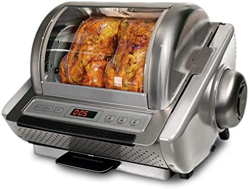 Ronco Showtime EZ Store Large Capacity Rotisserie BBQ Oven Digital Controls Compact Storage product image