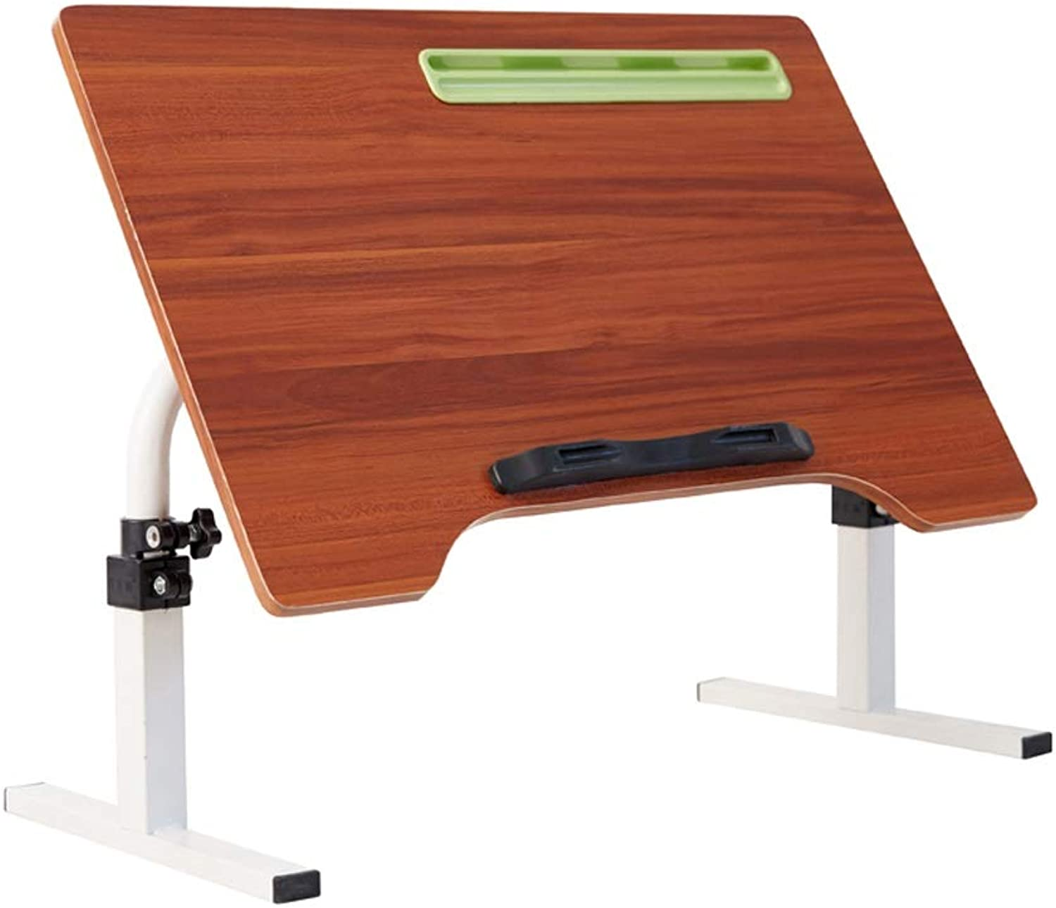 Foldable redating Adjustment Angle Table, Lazy Dormitory, Office Home Table, 60x40x45cm, Three colors Optional (color   Red Chestnut color)