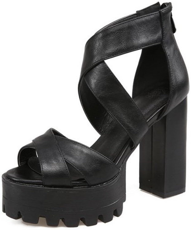 AN Womens Solid Platform Travel Urethane Sandals DIU01042