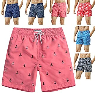 MaaMgic Mens Swim Trunks Quick Dry Funny Shorts with Mesh Lining Swimwear Bathing Suits