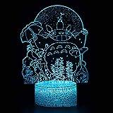 HUANXI Mi Vecino Totoro Lámpara de luz 3D Totoro Escritorio Decoración USB 16 Colores Sensor Lámpara de Escritorio para niños Colección de Amantes de los Deportes al Aire Libre,04