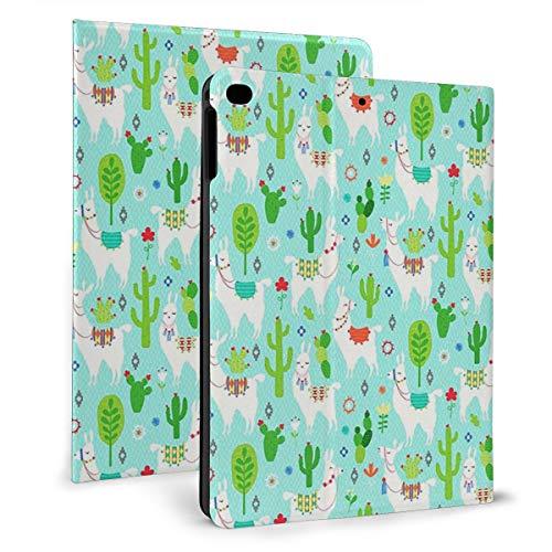 Funda para iPad de 9,7 pulgadas, funda protectora para iPad Air 2/1, diseño de llamas, color turquesa