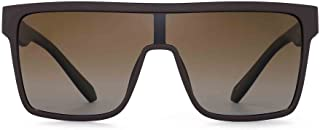 GLINDAR Polarized Shield Sunglasses for Men Square Flat Top Sports Glasses