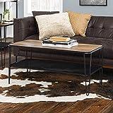 Walker Edison Furniture AZF42LOCTRO Coffee Table Rustic Oak