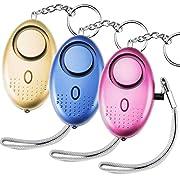 Belletek Safe Sound Personal Alarm Keychain Electronic, 140DB Personal Security Alarm Keychain with LED Lights, Emergency Safety Alarm for Women, Kids, Girls, Self Defense Electronic Device as Bag Decoration (3 Packs)