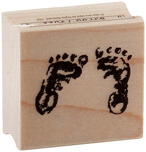 Hero Arts B1022 Woodblock Stamp, Baby Feet