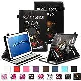 NAUC Robuste Tablet Schutzhülle für Huawei MediaPad T1 T2 T3 7.0 aus Kunstleder Hülle Tasche Standfunktion 360° Drehbar Cover Case Universal, Farben:Motiv 8