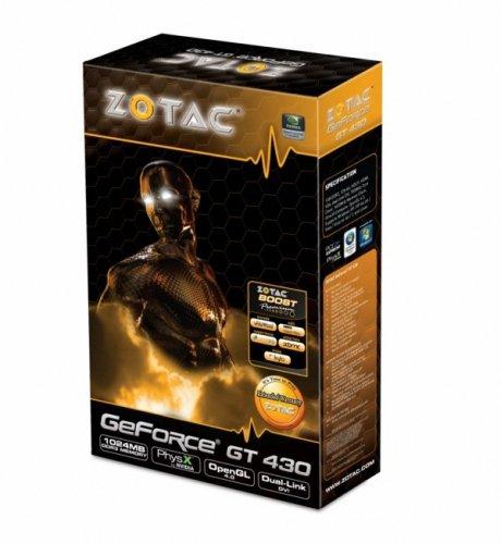 Zotac ZT-40603-10L GeForce GT 430 1GB - Tarjeta gráfica (GeForce GT 430, 2560 x 1600 Pixeles, 700 MHz, 1 GB, GDDR3, 128 bit)