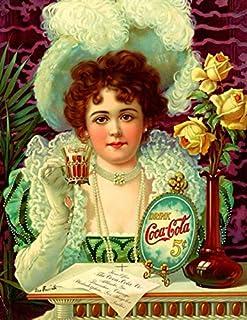 Drink Coca-Cola 5¢: The Coca-Cola Company: Retro Art Gift Writing Journals & Notebooks: 8.5