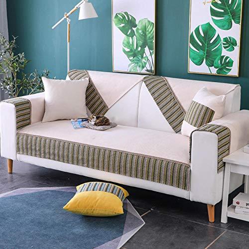 YUTJK Sofabezüge mit Spitzenschürze, Für Haustiere Couch Sofa Überwürfe, Anti-rutsch Übergroßen Spitze Couch Sofa Überwürfe Couch-Shield, Sofaschoner, Für Ledersofas, Weiß
