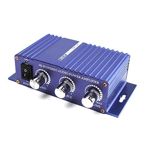 Iriisy Amplificador para Altavoces de Coche,Amplificador de Potencia de Audio estéreo HI-FI de 300W 12V Amplificador de Sonido automático de Lujo mp3