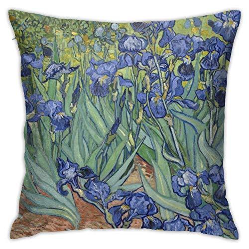 huancheng Fundas de almohada Home Decor Fundas de almohada Decorativas para Cama Sofá Fundas de Almohada Van Gogh Iris