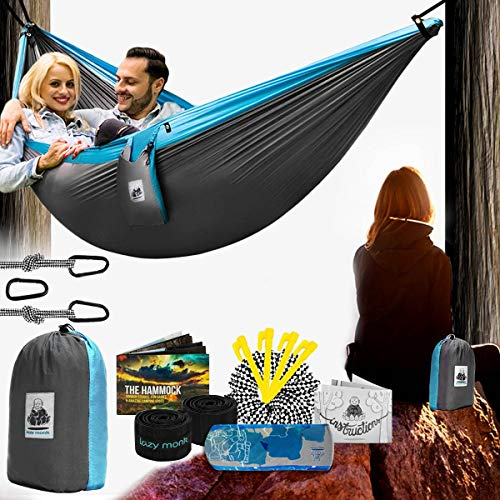 Lazy Monk 2 Person Hammock Tree Straps Included