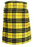 SHYNE KILTS U.K - Falda - falda escocesa - Hombre Amarillo/Negro 117 cm