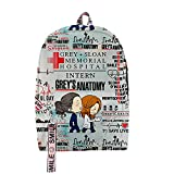 Greys Anatomy Merch Merch Backpack multicolour Oxford School Bag Cool Teenager Child Bag Travel Backpack (3.2)
