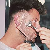 Beard Shaping Styling and haircut tools for men - Perfect for Hairline Line-up, Edging - Stencil/Template for Trimming, Mustache, Goatee, Neckline, Great Gift
