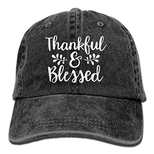 LUPNZ AKANT Men and Women Thankful Blessed-1 Vintage Jeans Baseball Cap
