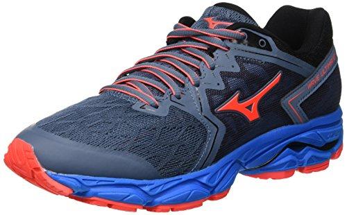 Mizuno Damen Shoe Wave Ultima WOS Sneakers, Mehrfarbig (Bluem/Fcoral/Blue 001), 38 EU
