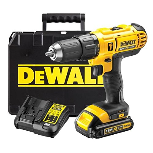 DEWALT 18V CORDLESS LITHIUM LXT COMBI DRILL,DRILL DRIVER WITH HAMMER ACTION FACILITY COMPLETE WITH...